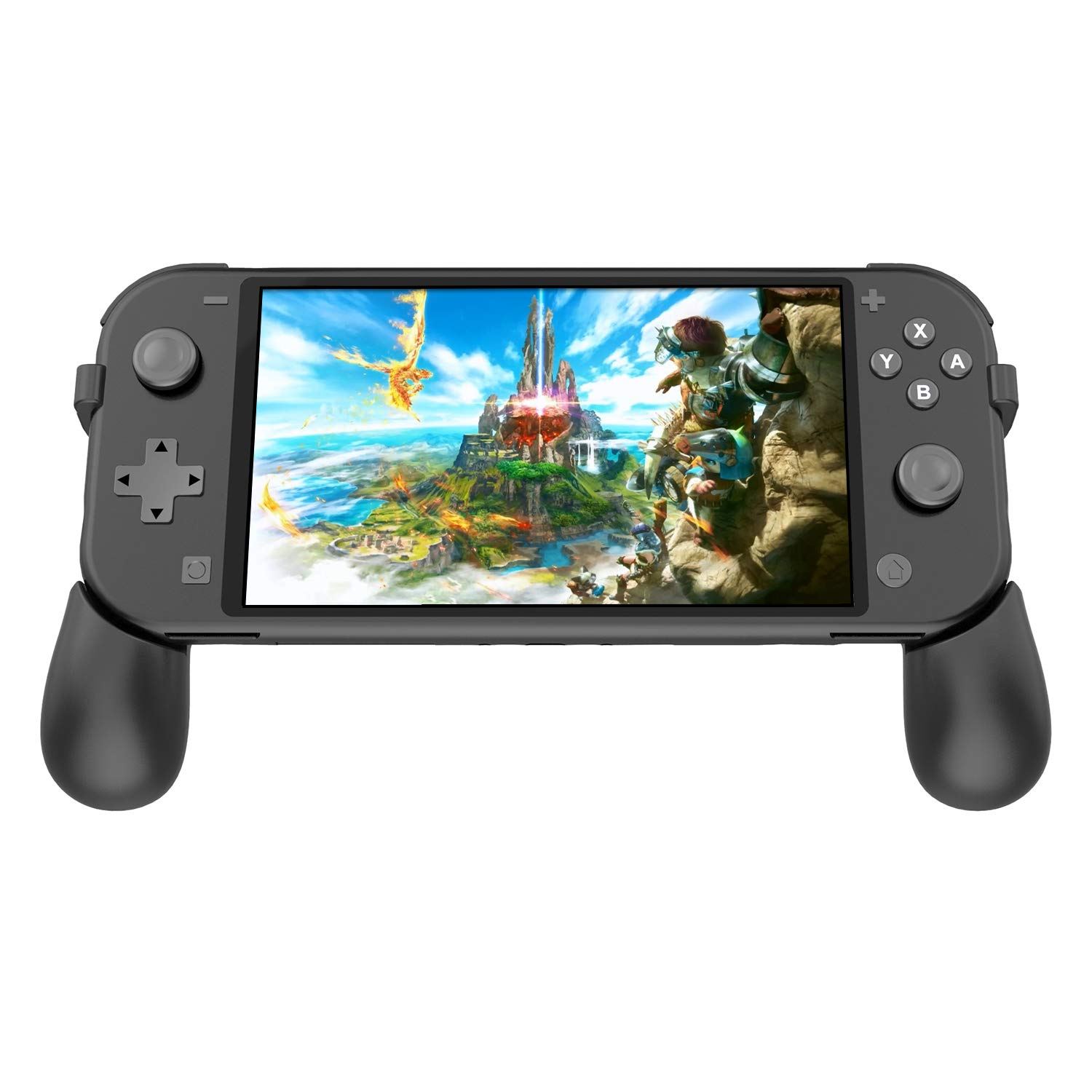 FYOUNG Hand Grips for Nintendo Switch Lite 2019 with 2 Game Slots, Foldable Grip Stand for Nintendo Switch Lite by FYOUNG
