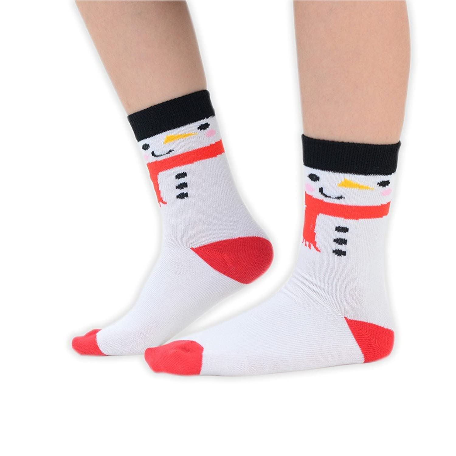 1 Pair of Kids Christmas Ankle Socks with Santa Rudolph Snow Different Sizes Available