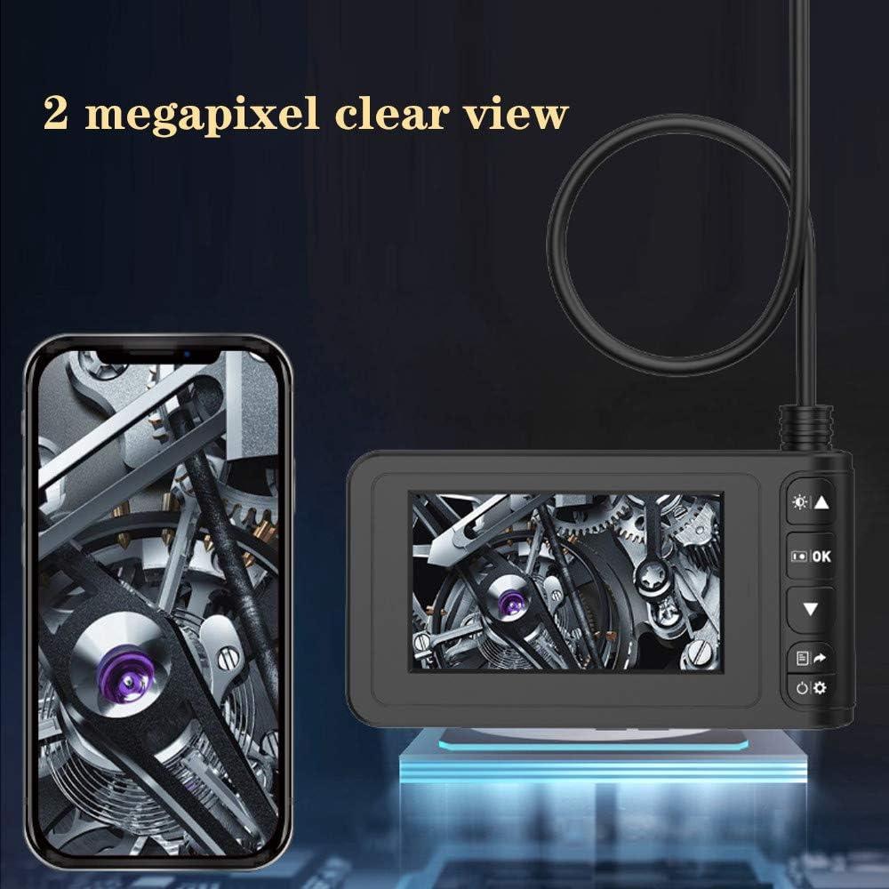 TTLIFE Endoscopio Industrial Tarjeta TF de 32GB y Herramienta c/ámara de boroscopio Digital 1080P HD a Prueba de Agua Pantalla LCD de 4.3 Pulgadas C/ámara con 6 Luces LED Cable semirr/ígido 16.5FT