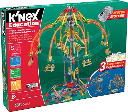 K Nex Education   Stem Explorations  Swing Ride Building Set   486 Pieces   Ages 8  Engineering Education Toy