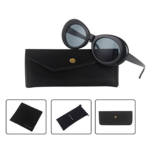 Amazon.com: Clout Goggles Bold Retro Oval Mod Thick Frame Sunglasses ...