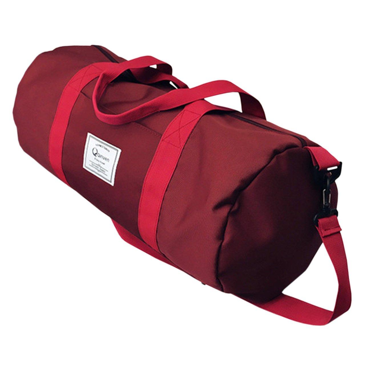 THEE Women Men High Capacity Waterproof Sports Bag Travel Tote Bag PFFPBB649bk