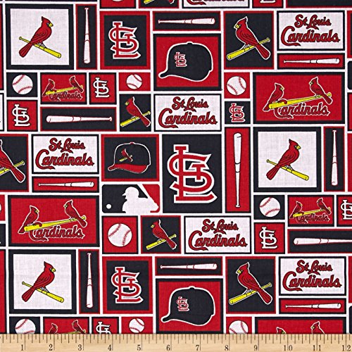 mlb-cotton-broadcloth-st-louis-cardinals-black-red-fabric-by-the-yard