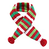 WensLTD Hotsale Cute Puppy Scarf Pet Cat Dog Winter Pet Decorations Colorful Striped Scarf