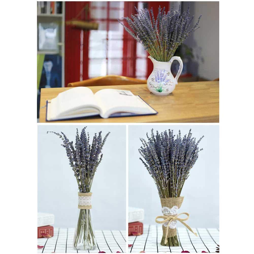 Gorgeousy Naturel Bouquet De Lavande Immortal Frais Fleurs S/éch/ées DIY Bureau /À Domicile Banquet D/écoration De Mariage