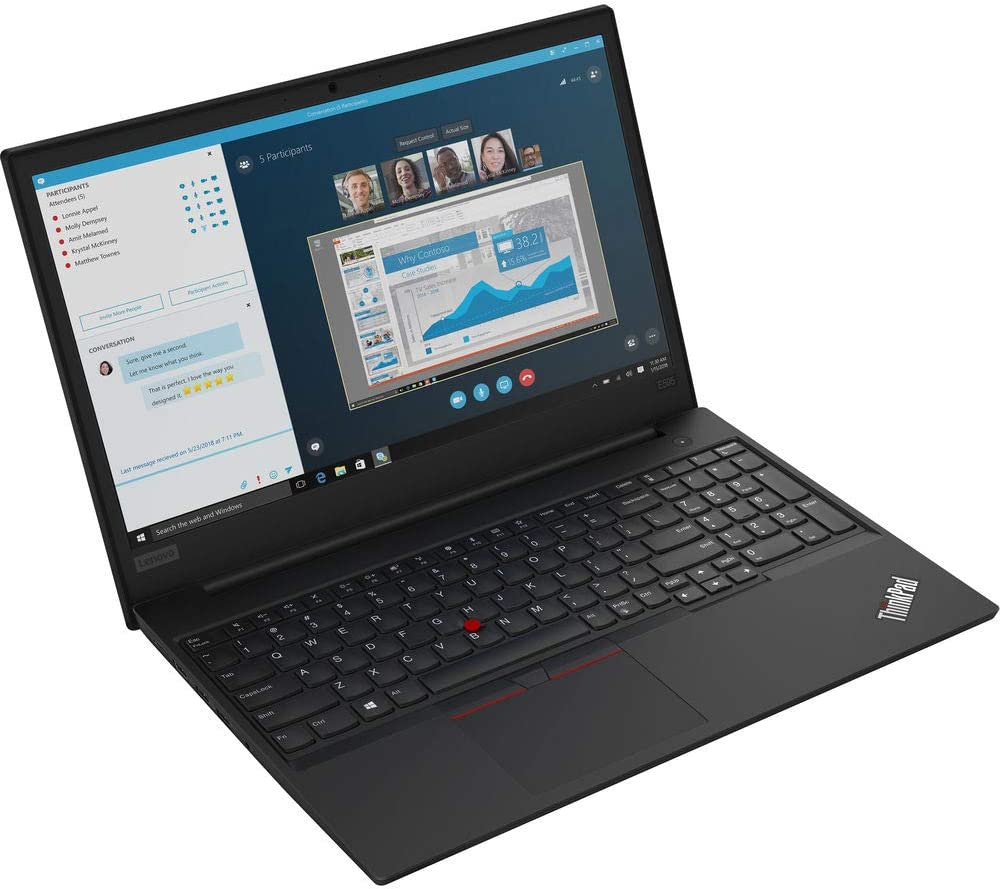Lenovo ThinkPad E595 Laptop, AMD Ryzen 5 3500U, 8GB RAM, 256GB SSD, Windows 10 Pro 64-bit (20NF0012US)