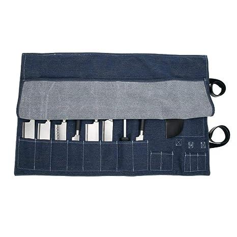 8 bolsillos para cuchillos de cocinero vaquero de chef ...
