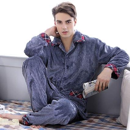 HWG-GAOYZ Conjunto De Pijamas Camisones Ropa De Dormir Ropa De Noche Hombres Invierno Dos