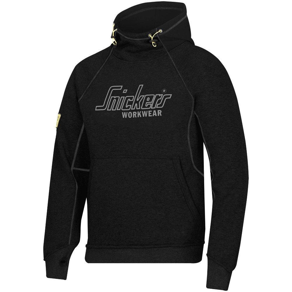 noir XL- Chest 49  Snickers Pour des hommes Logo Heavyweight Durable Soft Comfortable chandail sweat à capuche