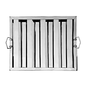 """New Star Foodservice 54361 S/S Hood Filter 20""""Wx16""""H, Set of 6"""