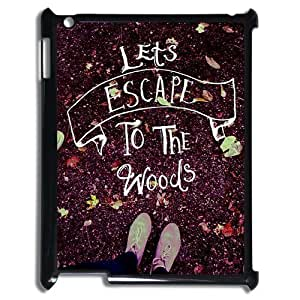 Let's Escape Design Cheap Custom Hard Case Cover for iPad 2,3,4, Let's Escape iPad 2,3,4 Case