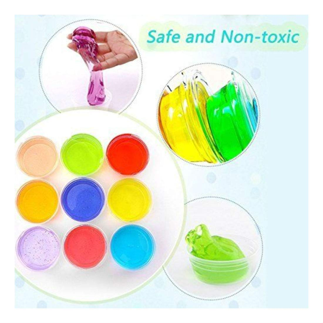 Amazon.com: DIY Fluffy Slime Kit - 12 colores Crystal Slime ...
