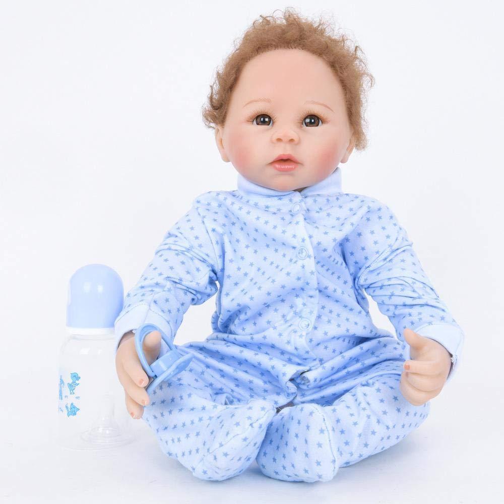 Hongge Reborn Baby Doll,Lebendige Wiedergeburt Puppe Spielzeug Geschenk Baby Wachstum Partner Reborn Puppe Spielzeug 55cm