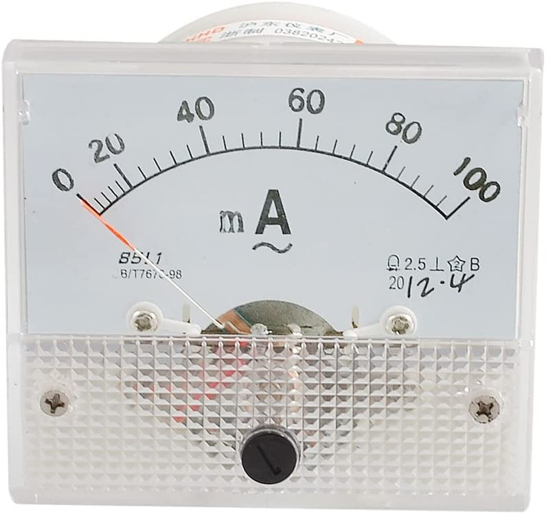 100MA-Gamme Milliampere amp/èrem/ètre Panneau m Analog Clothing AC 0