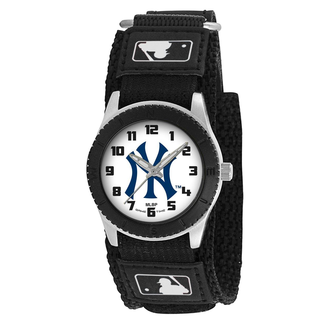 Game Time Unisex MLB-ROB-NY3 ''Rookie Black'' Watch - New York Yankees - ''Pinstripe Logo''