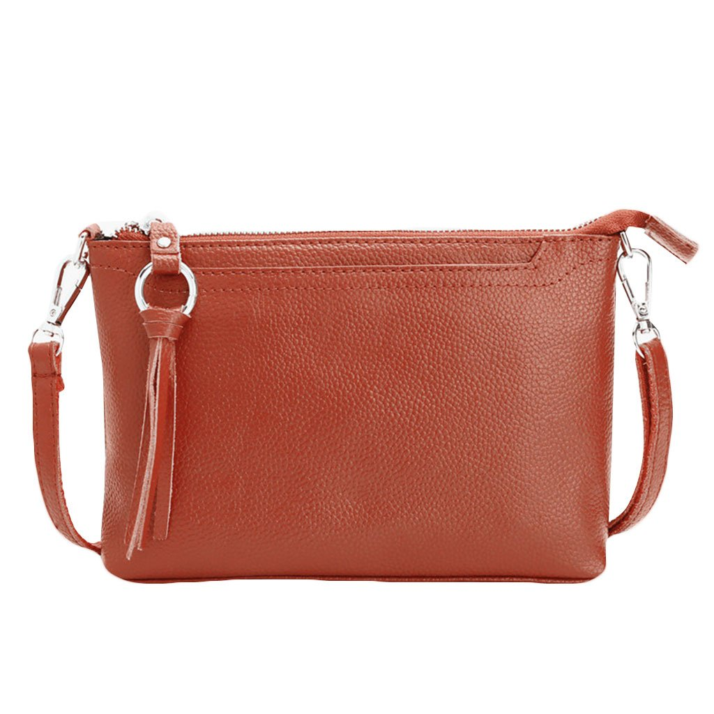 Susada Women Tassels Shoulder Bags Messenger Wallet Leather Crossbody Fashion Handbag Purse,Shoulder Bag Canvas Tote Handbag Casual Work Bag (Deep Brown)