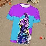 ComicCosplay Fortnite Llama T-Shirt | 3D Printed Fortnite Shirt | Quick Dry Short Sleeve Crew Neck