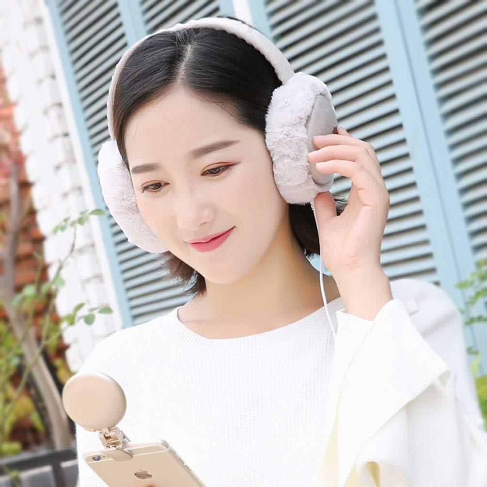 Unisex Winter Plush Wireless Bluetooth Warm Earmuffs Foldable Windproof Earmuffs