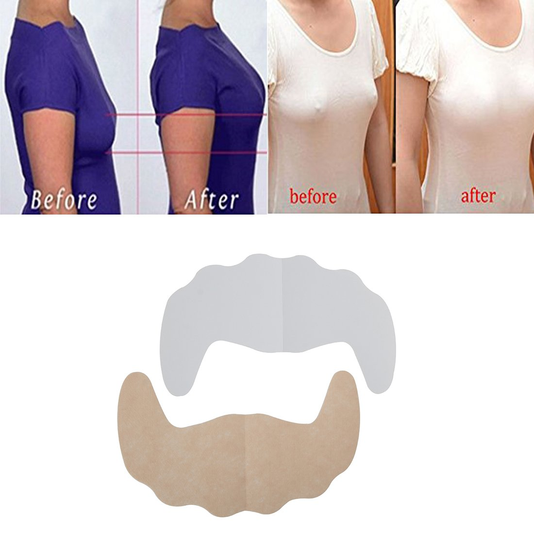 Careonline Adhesive Bra,Breast Petals Disposable Push Up Bra Nipple Covers Bra 10PCS