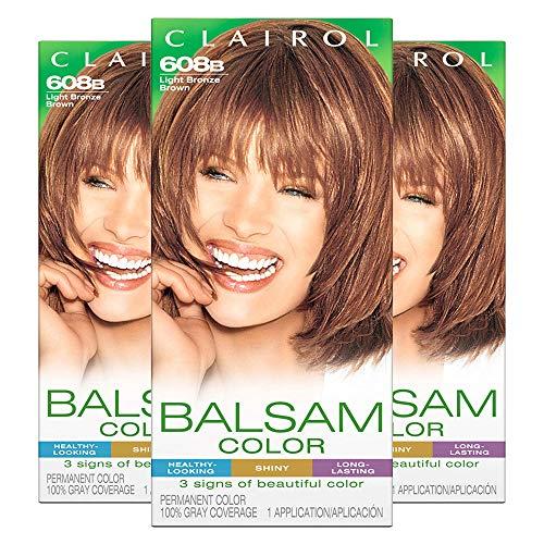 (Clairol Balsam Color Women's Permanent Hair Color, 608b Light Bronze Brown, 3 Count)