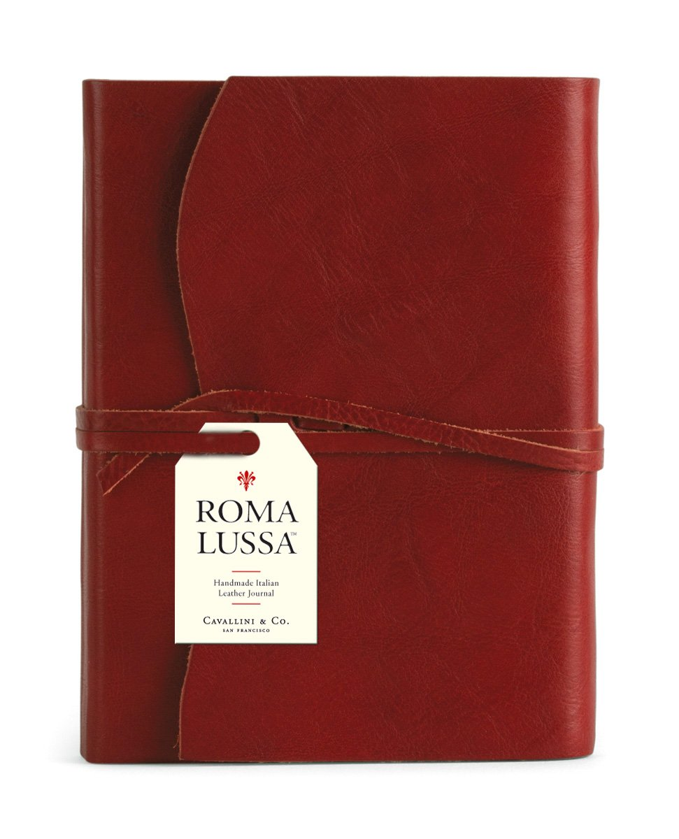 Cavallini & Co. Roma Lussa Leather Journal Red