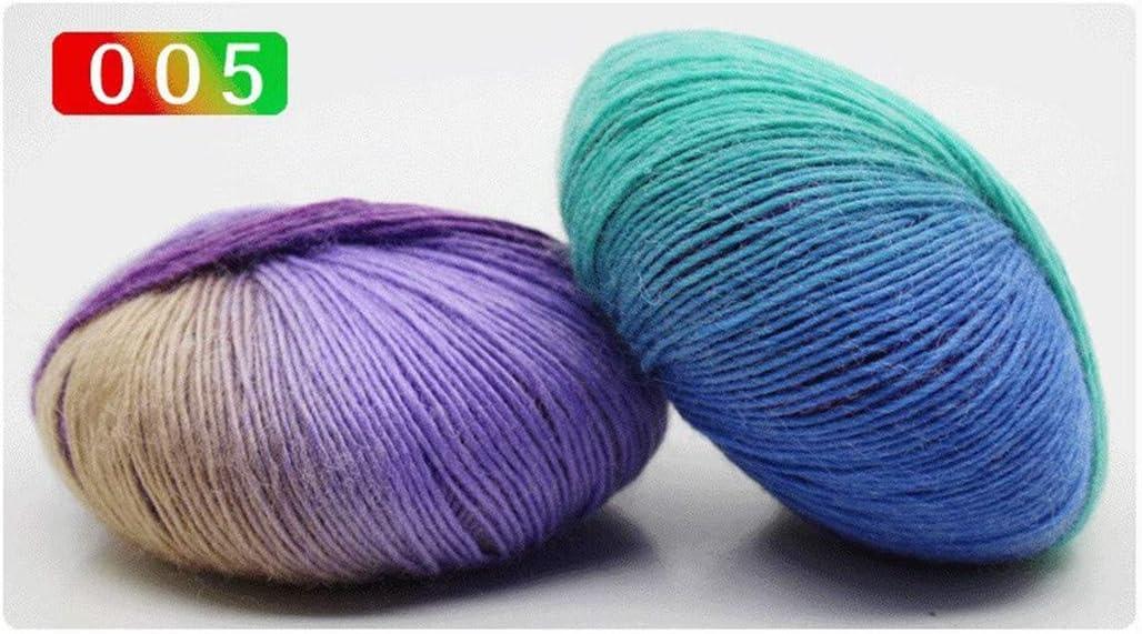 Shangwelluk - Juego de ovillos de lana para tejer (algodón suave ...