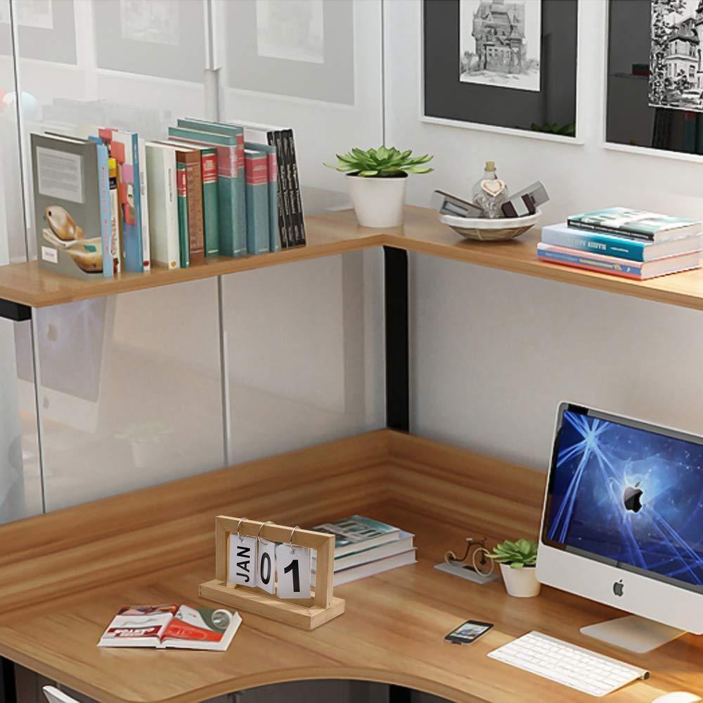 Calendario di blocco creativo in legno fai da te anello di vibrazione calendario adatto per cancelleria decorazione nordica desktop da ufficio legno