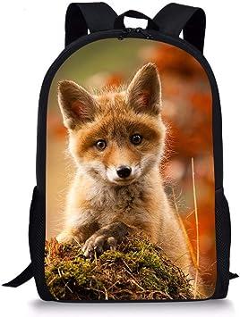 Fox School Bag Unisex Kids Ruck Sack Nursery Personalised Toddler Packpack