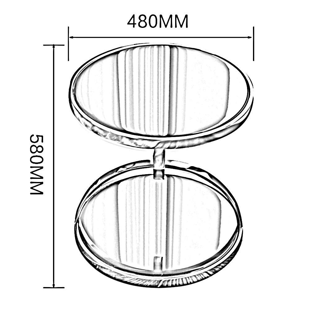 gehärtetem Glas Wohnzimmer 2 Schicht Multi-Funktions-Couchtisch Größe: 58x48 cm && Sofa Beistelltisch Metall DS Tisch Metall runder Tisch Farbe : Weiß