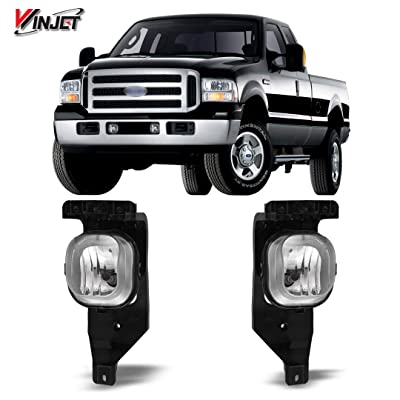 Winjet OEM Series for Ford [2005 2006 2007 F-250 F-350 F-450 F-550 Super Duty] [2005 Excursion] Driving Fog Lights: Automotive