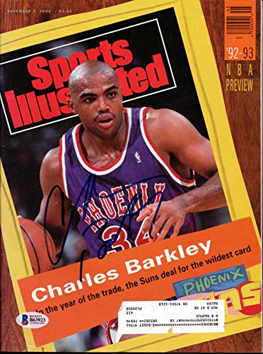 Charles Barkley Autographed Sports Illustrated Magazine Phoenix Suns Beckett Bas
