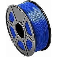 CC DIY PLA 3D Printer Filament Dimensional Accuracy +/- 0.02 mm 1kg Spool 1.75 mm Suits Most 3D Printers Tevo Tarantuala CR10 Mendel Prusa and More, Also Suitable for Most 3D pens (Blue)