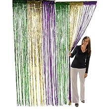 Fun Express Metallic Mardi Gras Fringe Curtains (1 Piece)