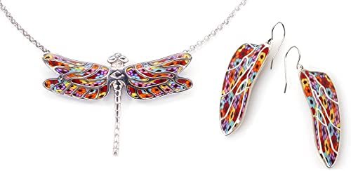 Amazon Com 925 Sterling Silver Dragonfly Necklace And Wing