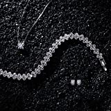 "P&M ""Snow Queen"" White Gold Plated Crystal Women Jewellery Set Bracelet Necklace Earrings Bild 1"