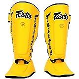 FAIRTEX TWISTER SHIN GUARDS - SP7 - YELLOW - DETACHABLE