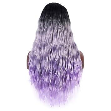 Amazon.com: Yunkai - Peluca de pelo sintético de 3 tonos ...