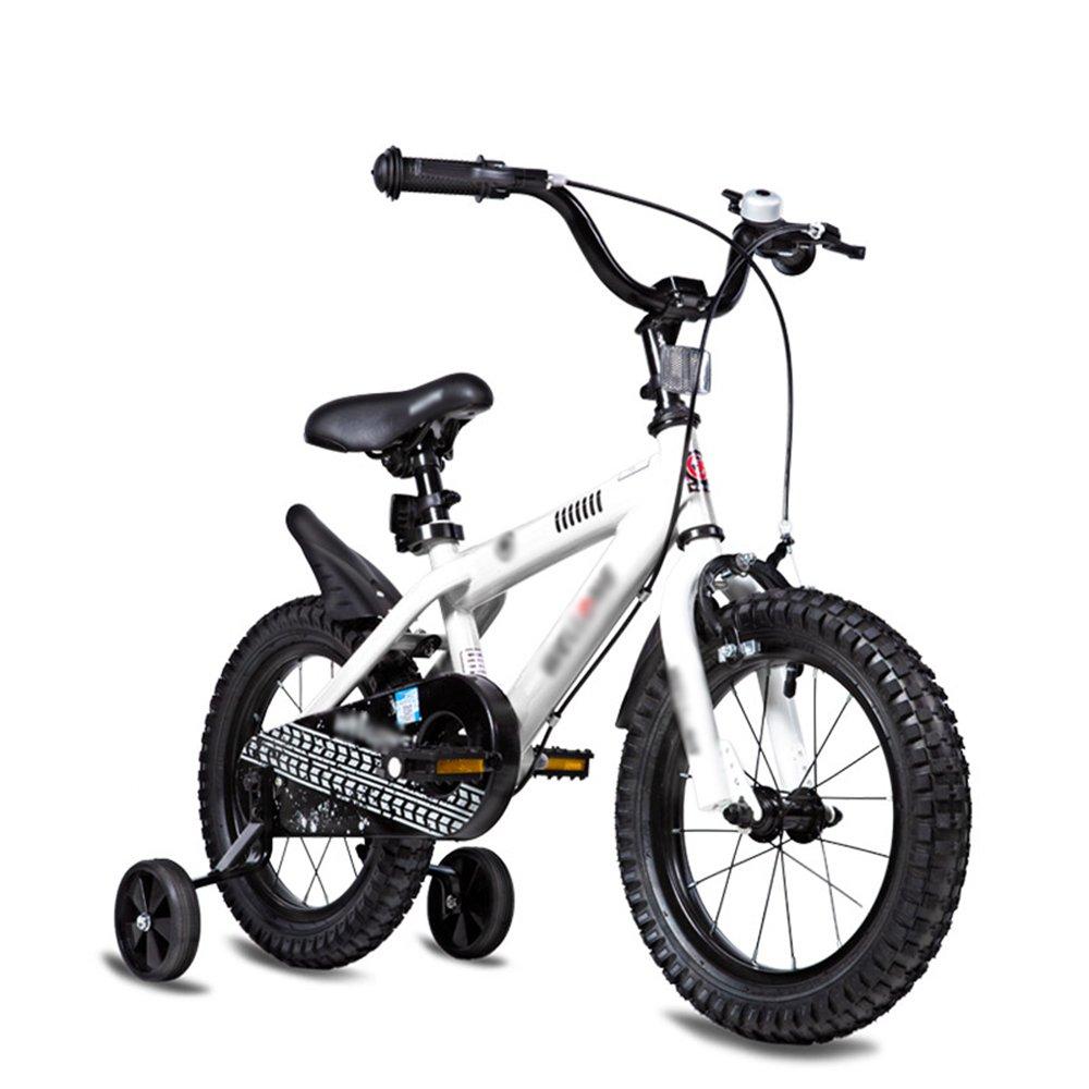 FEIFEI 子供の自転車のサイズオプション12インチ14インチ16インチ18インチ20インチ環境保護材料6色オプション (色 : 白, サイズ さいず : 14 inches) B07CRNBS55 14 inches|白 白 14 inches