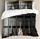 Ambesonne American Flag Duvet Cover Set Queen