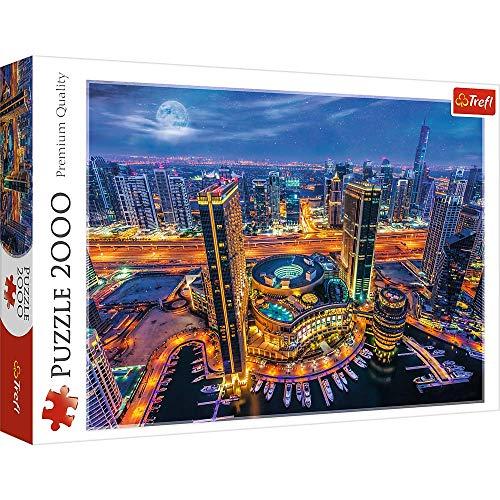 Trefl 2000 Piece Jigsaw Puzzle, Lights of Dubai