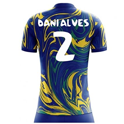 a08315089 Amazon.com : Airo Sportswear 2018-19 Brazil Away Concept Football Soccer T-Shirt  Jersey (Dani Alves 2) - Kids : Sports & Outdoors