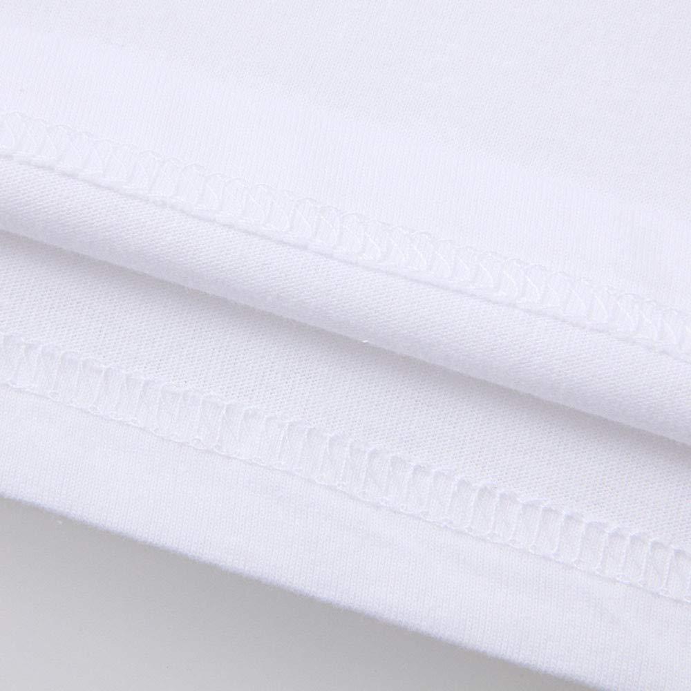 Bestow Blusa para Hombre Camiseta con Estampado de Moda para Hombre Camiseta para Hombre Camiseta de Manga Corta con Estampado de fútbol Blusa(Blanco, ...