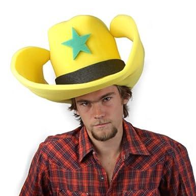 Amazon.com  Clown Antics Super Size 50 Gallon Cowboy Hats - Yellow ... 891810da126