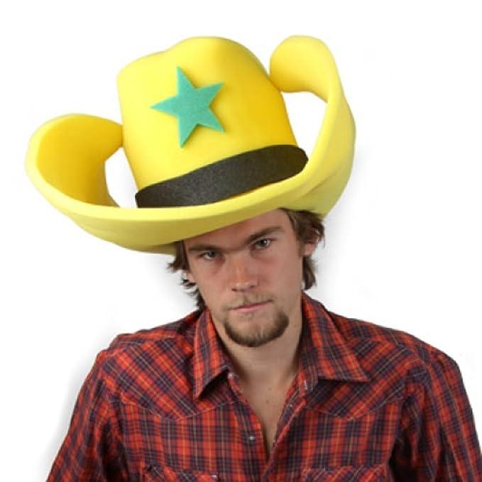 Amazon.com  Clown Antics Super Size 50 Gallon Cowboy Hats - Yellow ... 23fad8f887e