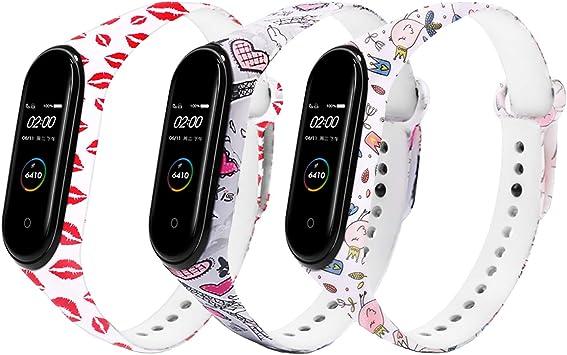 Oferta amazon: Monuary 3 Piezas Correas para Xiaomi Mi Smart Band 4 / Mi Band 3 Pulsera, Silicona Reloj de Recambio Brazalete Coloridos Correas para Xiaomi Mi Band 4 / Mi Band 3