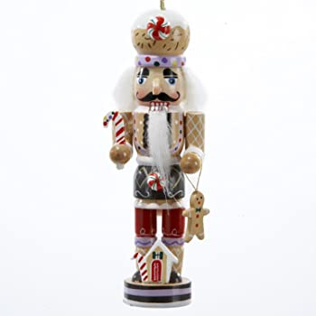 5 gingerbread kisses wooden nutcracker christmas ornament - Nutcracker Christmas Ornaments
