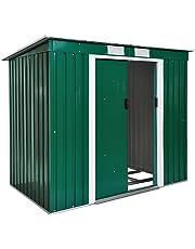 TecTake Cobertizo caseta de jardín metálica de Metal Invernadero almacén   + fundación Modelos (Tipo