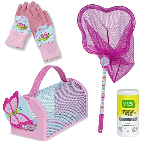 Melissa & Doug Sunny Patch Cutie Pie Kids Set, Toy Bug House Carrier, Catching Net and Gardening Gloves, 3-Piece with Cleaning (Miss Behaviour Costume)