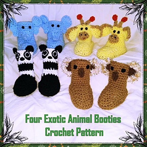 Four Exotic Bootie Crochet Patterns