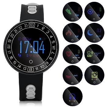 Eboxer Montre Connectée, Bracelet Intelligente Étanche IP68 Montre Sport avec Cardiofréquencemètre,Tensiomètre,Sommeil